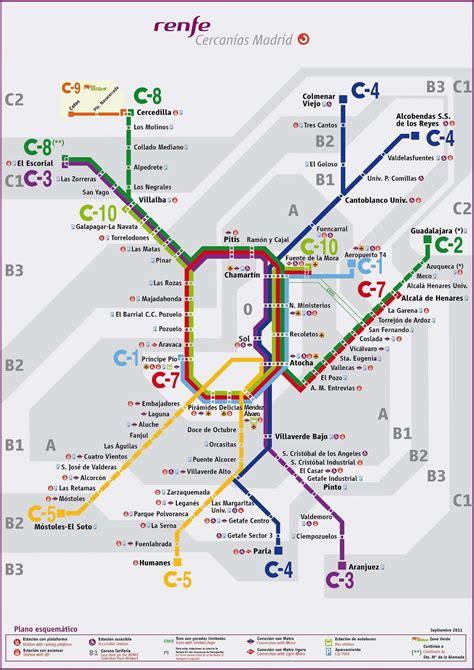 Plano de Cercanías de Madrid  actualizado – 2012  | Zona ...
