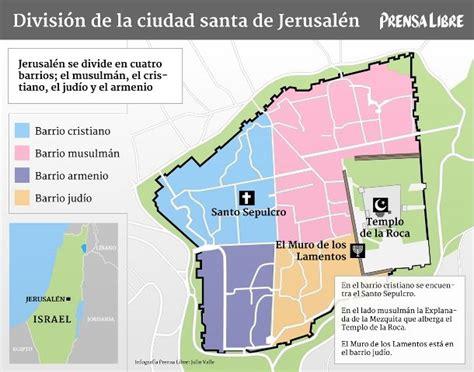 Plano de la ciudad de Jerusalem donde se encuentra ubicado ...