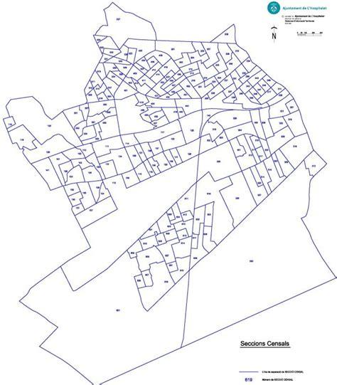 Plano de las seccions censales | Ajuntament de L'Hospitalet