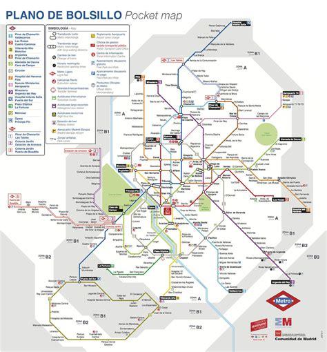 Plano de Metro de Madrid  2014  | Zona Retiro