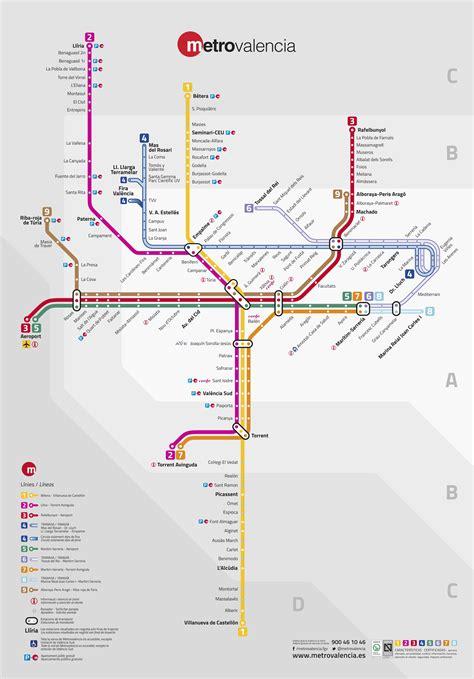 Plano de Metro de Valencia 2021