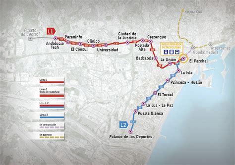 Plano de Metro Málaga 2021