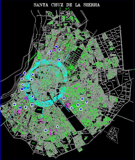 Plano de santa cruz bolivia en AutoCAD | CAD  11.25 MB ...