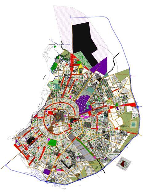 plano de santa cruz  Bolivia según plan regulador