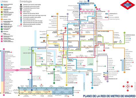 PLANO DEL METRO DE MADRID [Plano completo y turístico ...