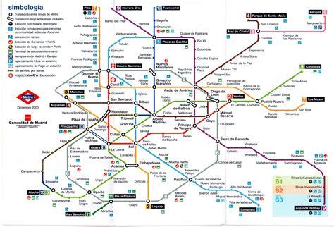 Plano esquemático de Metro de Madrid  diciembre de 2000 ...