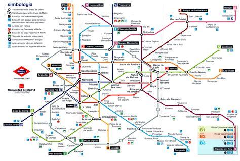 Plano esquemático de Metro de Madrid  noviembre 2002 ...