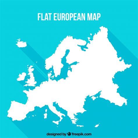 Plano, europeu, mapa, azul, fundo | Baixar vetores grátis