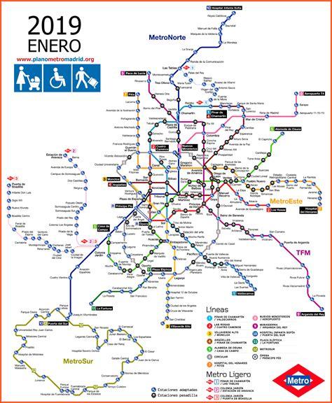 plano metro madrid2019   Apartamentos turisticos en Madrid