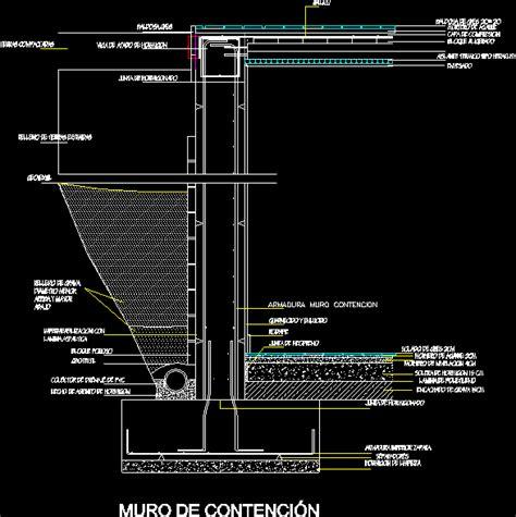 Planos de Muro de contencion, en Cimentaciones   Detalles ...