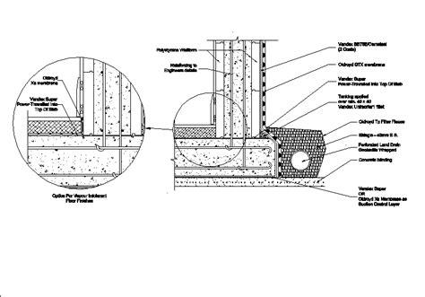 Planos de Sótano impermeabilización en DWG AUTOCAD ...