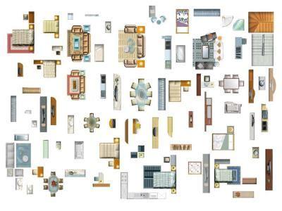 Plantas de muebles para photoshop en BMP | CAD  7.81 MB ...