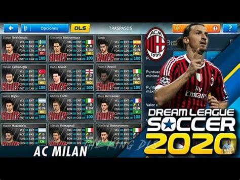 Plantilla AC Milán 2020 2021 Para Dream League Soccer 19 ...