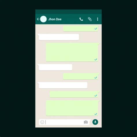 Plantilla de chat de whatsapp | Descargar Vectores Premium