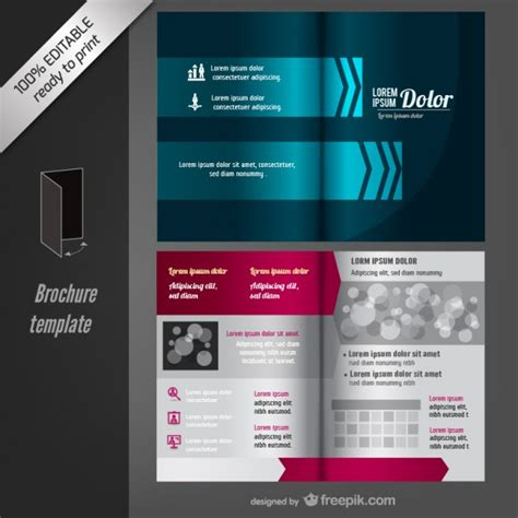 Plantilla de folleto editable   Vector Gratis