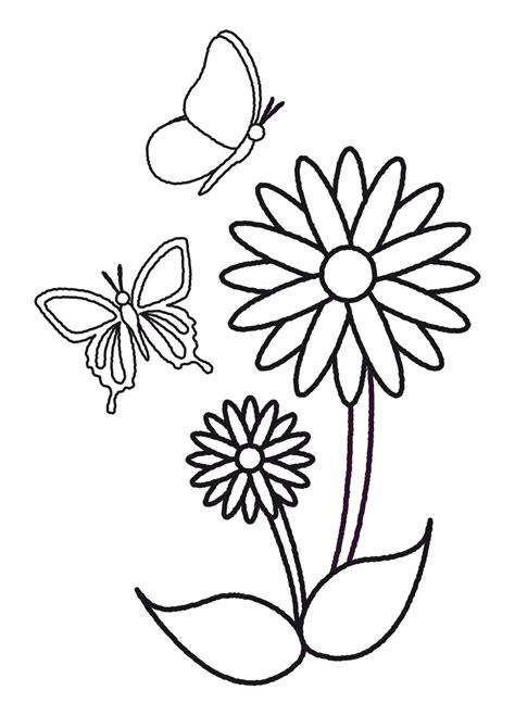 plantillas de flores y mariposas para colorear | Mariposas ...