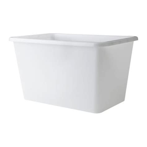 Plastic Ikea Snalis Storage Boxes Stackable With Lids Just ...