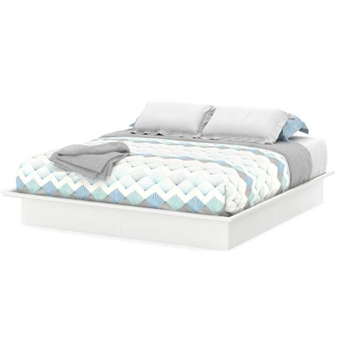 Platform Bed Full Queen King Size Sizes White Color ...