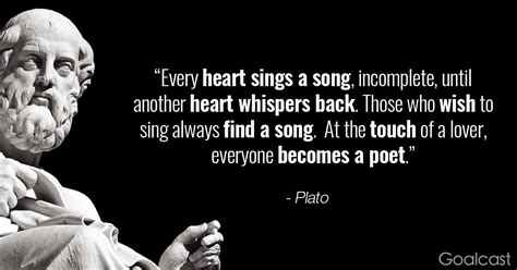 Plato Quote: Two Hearts Sing a Song | Goalcast