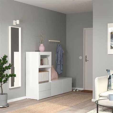 PLATSA Combinación de armario y estantería, 180x42 cm ...