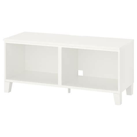 PLATSA TV bench, white, wood, 120x42x53 cm   IKEA