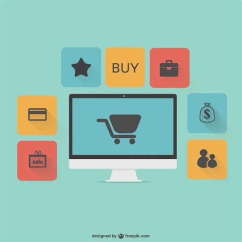 Platte vector online winkelen graphics | Gratis Vector
