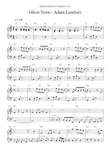 play popular music, Adam Lambert, Ghost Town, free, piano ...