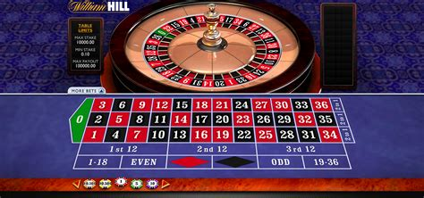 Play Roulette online at William Hill Vegas casino games