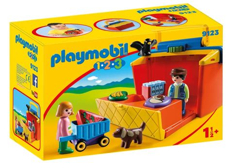 PLAYMOBIL 1, 2, 3: Meeneem marktkraam  9123    Cadeau ...