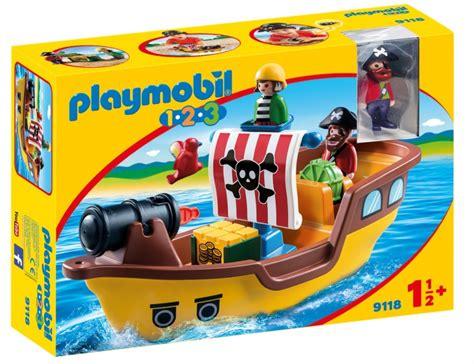 PLAYMOBIL 1, 2, 3: Piratenschip  9118    Cadeau Vlaanderen