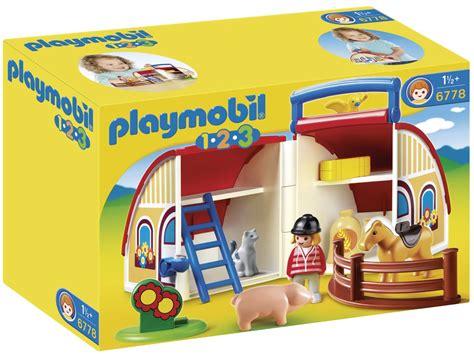 Playmobil 1.2.3 Take Along Barn   Best Educational Infant ...