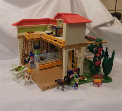 Playmobil 4857 Summer Vacation House bed bath kitchen ...