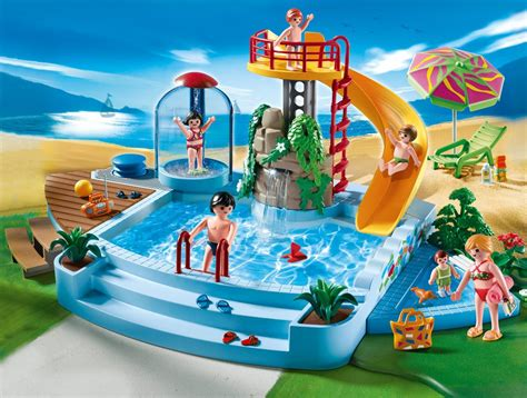 PLAYMOBIL 4858   Swimming Pool With Water Slide Great Toy ...