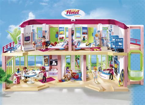Playmobil 5265 Summer Fun Large Furnished Hotel: Amazon.co ...