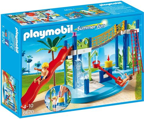PLAYMOBIL 6670 Summer Fun Water Park Play Area Complete ...
