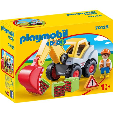 PLAYMOBIL 70125 Schaufelbagger 1.2.3