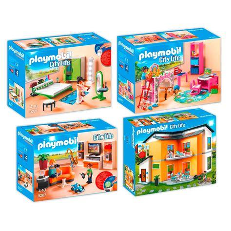 PLAYMOBIL 9266 67 70 71 Modernes Wohnhaus Set 3   4er Set ...