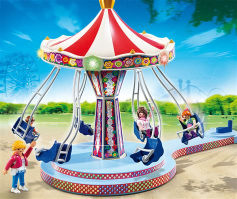 Playmobil Amusement Park   Flying Swings     Fat Brain Toys