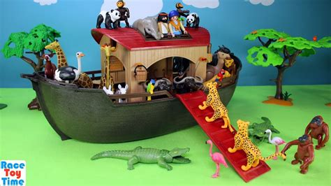 Playmobil Animals Ark Playset Build and Play   Toys Video ...