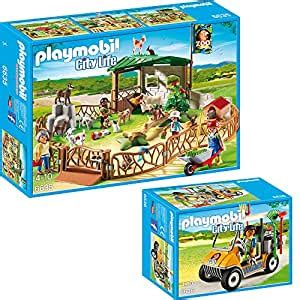 Playmobil City Life Large Zoo Set of 2 6635 6636 Farm and ...