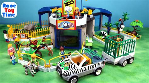 PLAYMOBIL City Life Toy Safari Animals Zoo Building Set ...