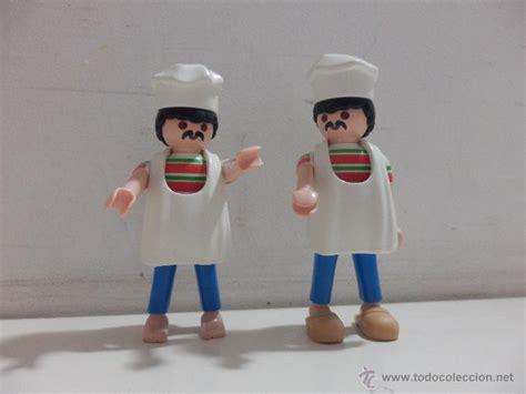 Playmobil ciudad cocineros chef con mandil   Vendido en ...
