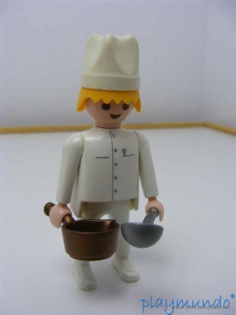 Playmobil cocinero oficios muñeco click  tarifa   Vendido ...