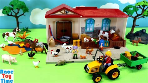 Playmobil Country Take Along Farm Stable Playset with Fun ...
