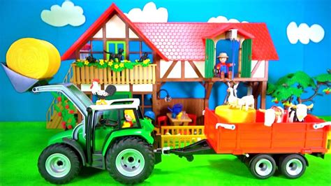Playmobil Farm Animals Playset Build and Play Learn Colors ...