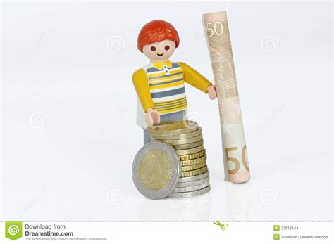 Playmobil Figure With Money Editorial Stock Image   Image ...