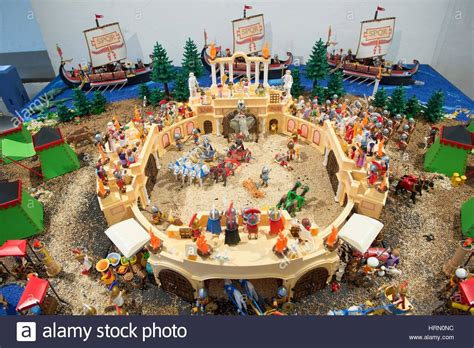 Playmobil figures on display in Drebach, Germany, 01 March ...