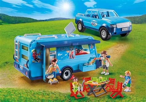 PLAYMOBIL FunPark Pickup with Camper   9502   PLAYMOBIL USA