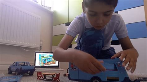 PLAYMOBIL FunPark Pickup with Camper 9502   YouTube