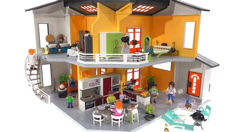 Playmobil Modern House + Full Interior! 9266 + 9267 + 9268 ...